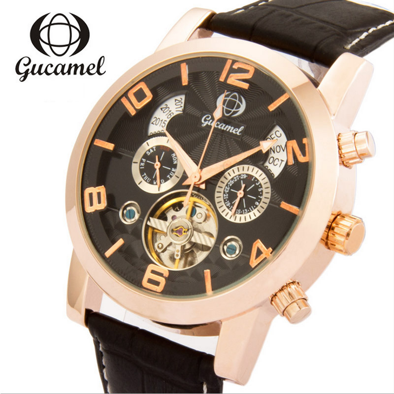 Mechanical Watches Men Automatic Tourbillon Wristwatch