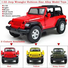 High Simulation 1 32 Pull Back Jeep Wrangler Rubicon Zinc Alloy Diecasts Model Toy Vehicles With