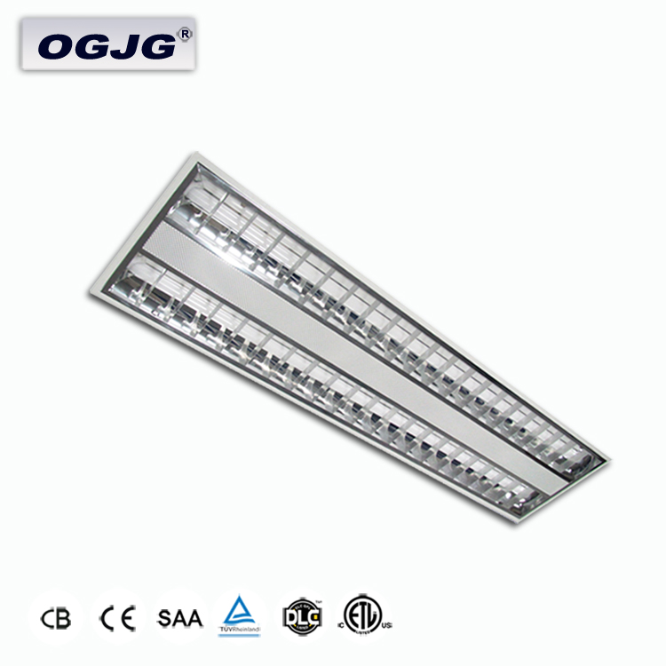 coated rolled steel hosing louver recessed light 40w energy saving classroom office led grid light