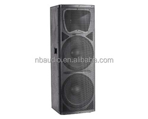 high power wooden dual 15inch subwoofer floor speaker box