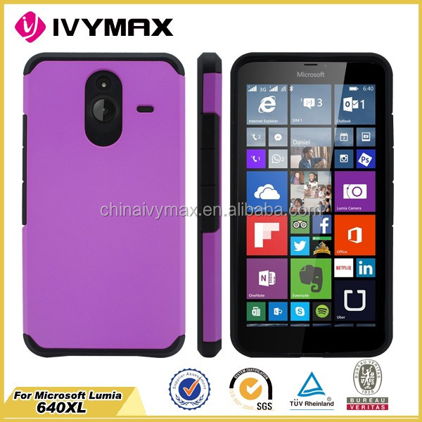Top sale for Nokia lumia N640XL dual layer shockproof cellphone case
