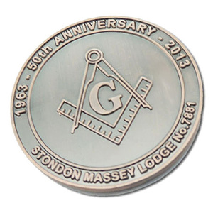 Customized Metal Masonic Logo Challenge Coins for Promotion Gift
