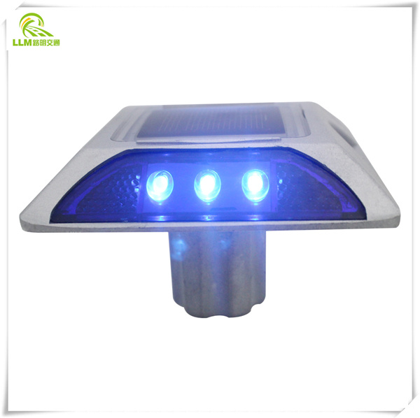 Factory direct 130mm with stem aluminum LED lighting solar cat eye road stud