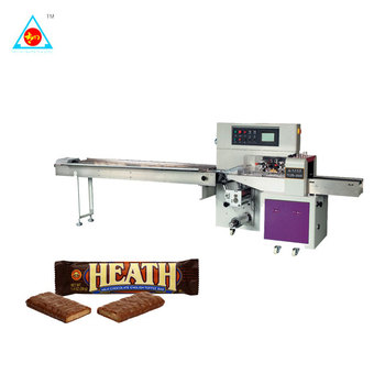 Pillow Type Horizontal Biscuit Packing Machine Cookies Chocolate Bar Pillow Packaging machine