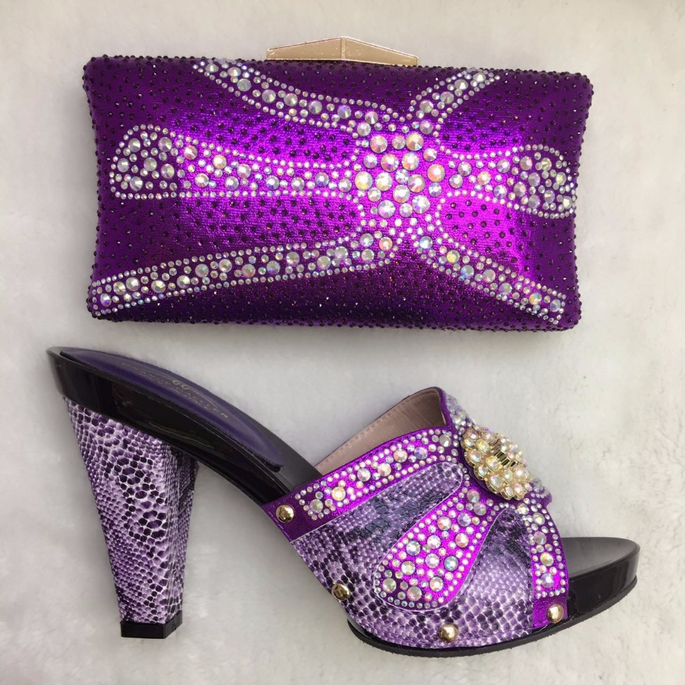 shoes wholesale nigeria Italian matching shoes and clutch set party Fashionable bag bag and qwEdYxfY0