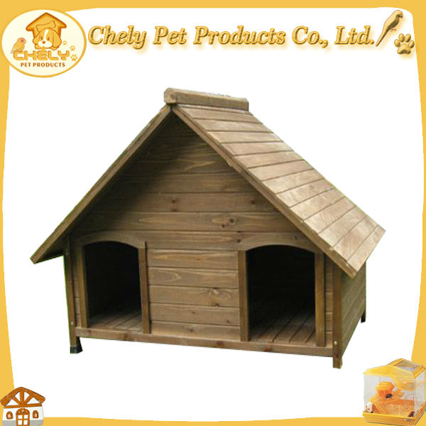 Outdoor Fashional Wooden Dog House For Two Dogs Pet Cages,Carriers & Houses