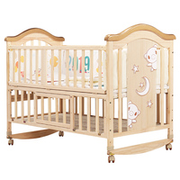 The stylish and versatile design sturdy wood construction kids bed/co sleeper baby crib
