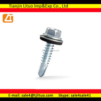E.G. Hex Head Screws with EPDM washer Bulk package for Russian