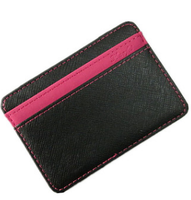 Colorful Leather Magic Money Clip ID Credit Card Business Holder Wallet