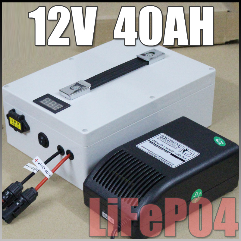 12v 40ah lifepo4 protable battery 500w electric bicycle battery bms charger 12v lithium. Black Bedroom Furniture Sets. Home Design Ideas