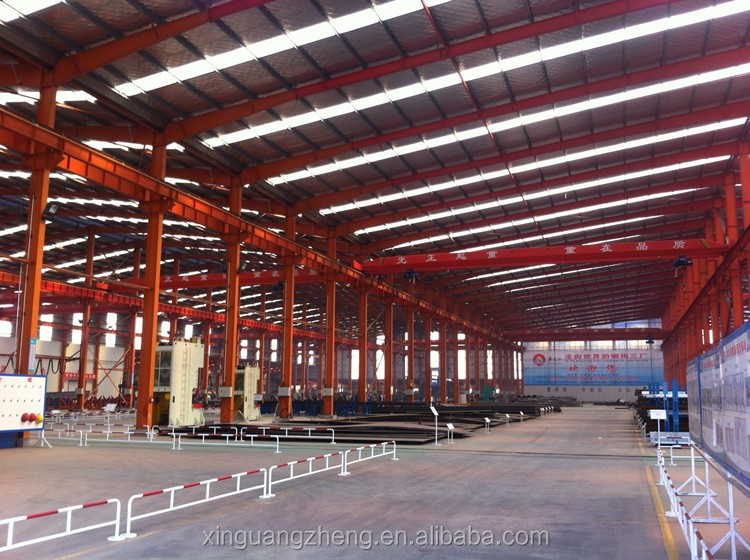 double slope steel warehouse steel workshop