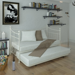 OEM/ODM Fashion Custom Modern Multifunctional Metal Bed/ Day Bed bedroom furniture