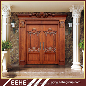 Luxury style Exterior carved wood door pictures