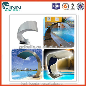 Arc hook stainless steel spa pool swimming pool pond waterfall buy pond waterfall graphical - Arc swimming pool ...