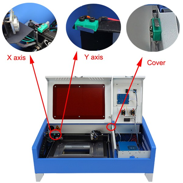 Chinacnczone New Co2 Laser Engraving Cutting Machine