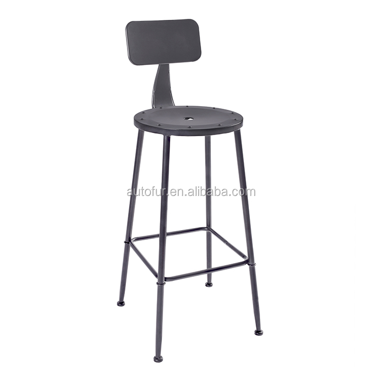 Modern Metal bar table high back dining stool chair Outdoor high bar chair