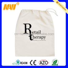 Custom promotional cotton drawstring shoe bag