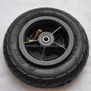 6 inch small pneumatic alloy scooter wheel 150mm