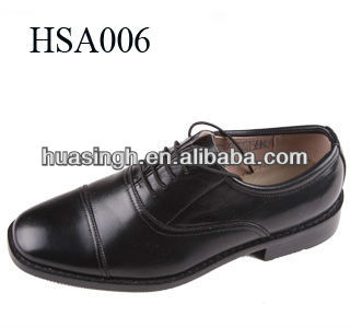 Italian latest design black mens formal style genuine leather dress shoes