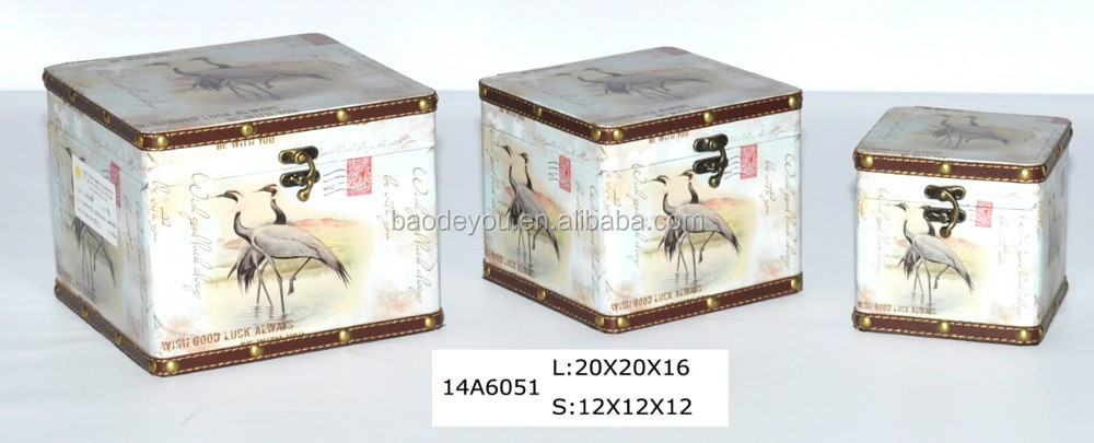 wholesale bird wooden coin and tool storage box for home