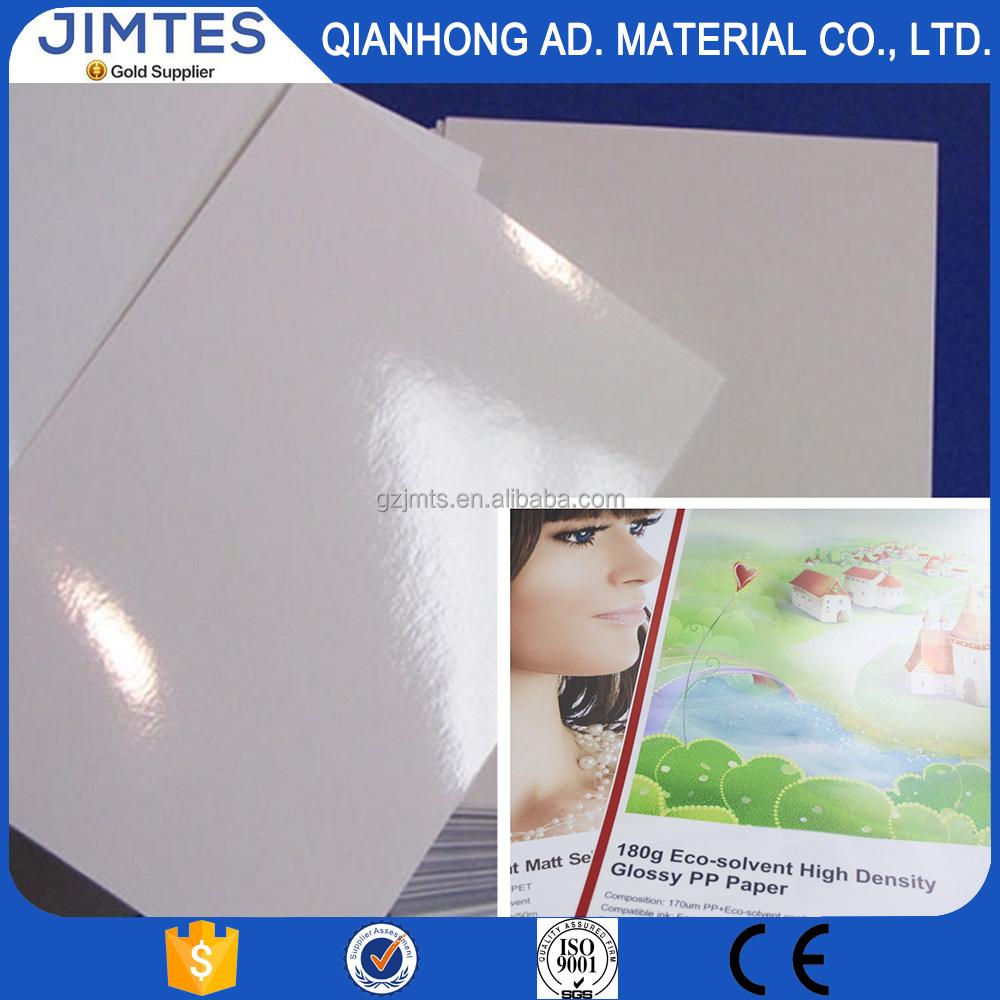 Matte / Glossy Inkjet PP paper, Roll up PP Paper, PP Synthetic Paper