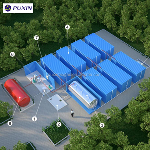 PUXIN 20FT container biogas digester for large scale food waste treatment