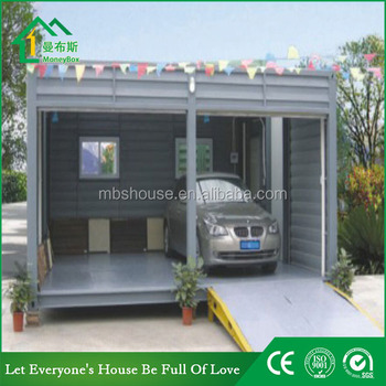Modified shipping container carport two car portable for Cheap car garages