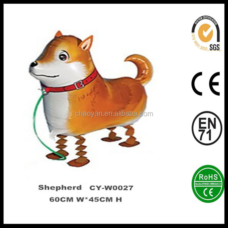 Inflatable Wholsesale Walking Fox Terrier Helium Foil Balloon,Walking Animal Pets Walking Dog Foil Party Balloon