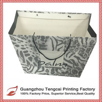 Hot selling fashion design recyclable paper shopping bag for jewelry