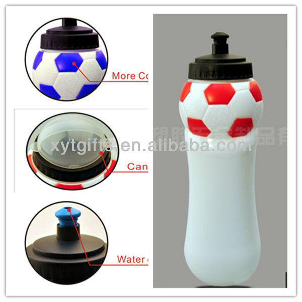 Hot Promotion Item 1L Plastic Water Bottle Football Shaped Factory