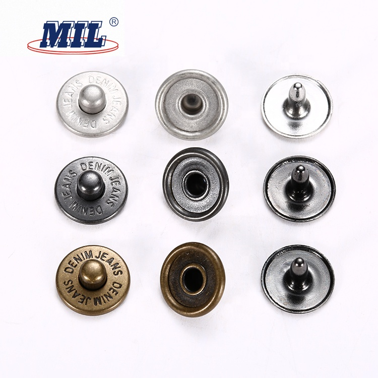 Jean Rivets Suppliers Custom Clothing Metal Studs Rivets Button For Garment