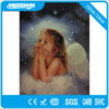 light up angel with led lights artwork, luminous art canvas painting for wall-hanging