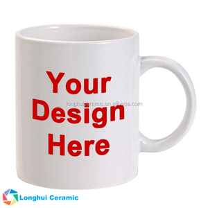 12oz classic custom white ceramic coffee mug for your design