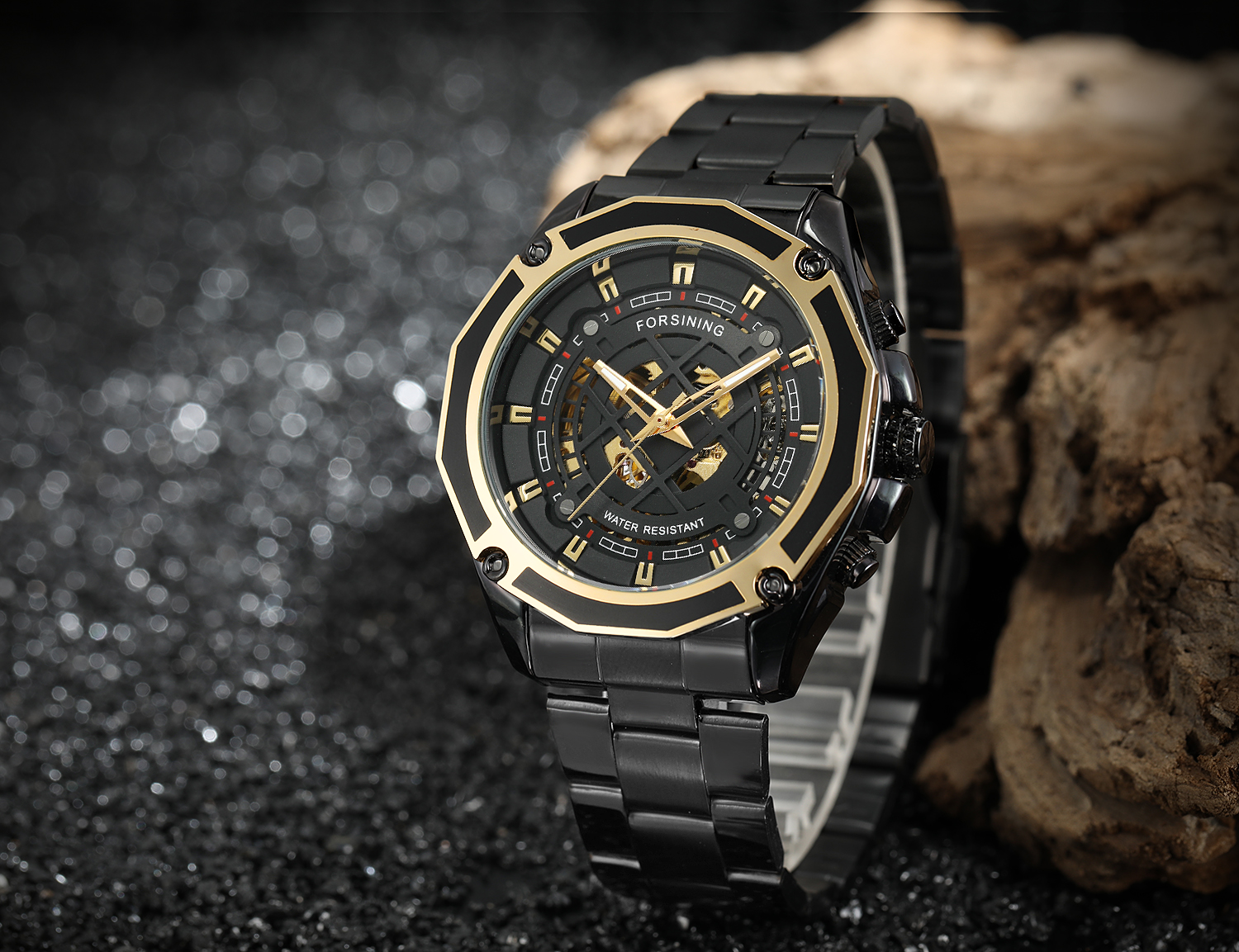 2019 NEW Forsining Men Gender Stainless Steel Material Skeleton China Watch Automatic