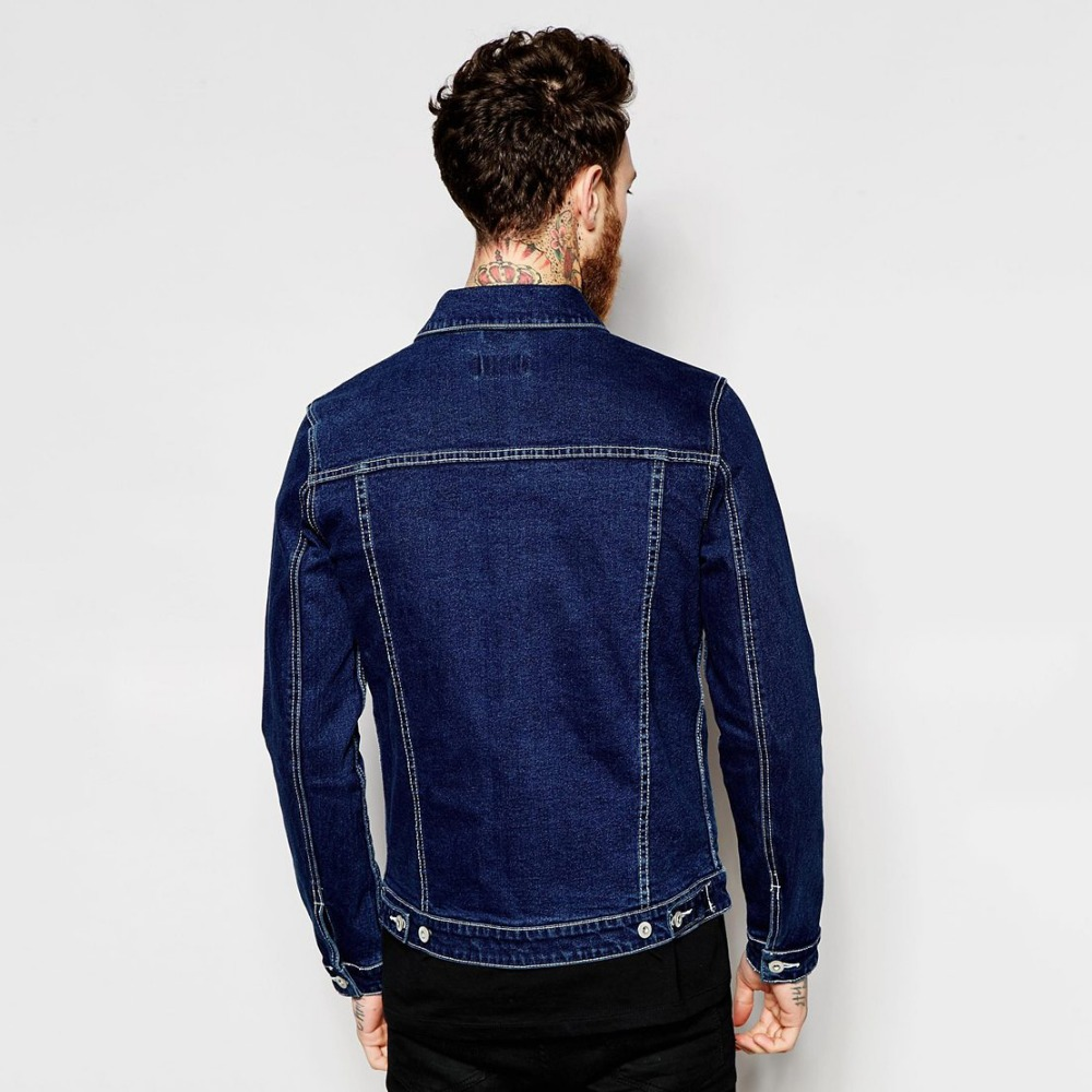 popular dark blue denim jacket in new model for men