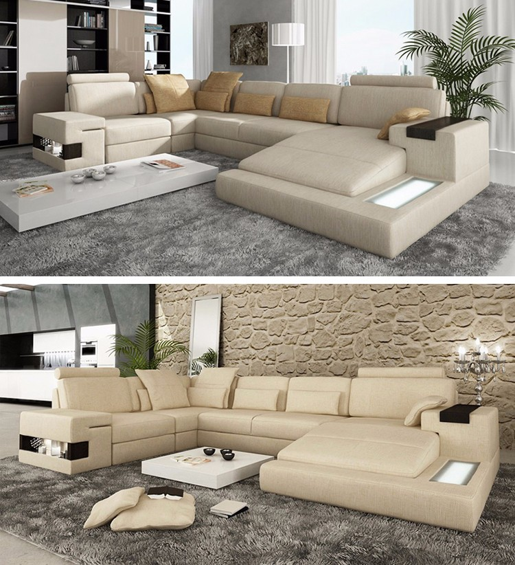 Low Price Modern Lamps Living Room Furniture 5 Seater Sofa
