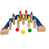 Customized garden sports game children wooden bowling set