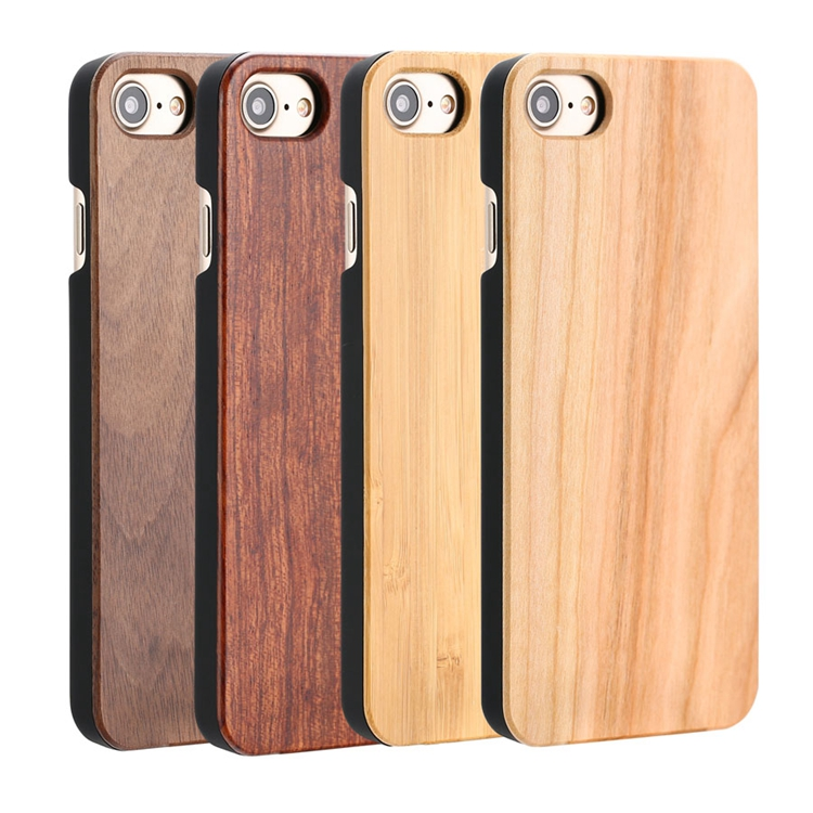 Factory Wholesale Hot Custom Blank Bamboo Wood Phone Case Back Cover For Iphone 8