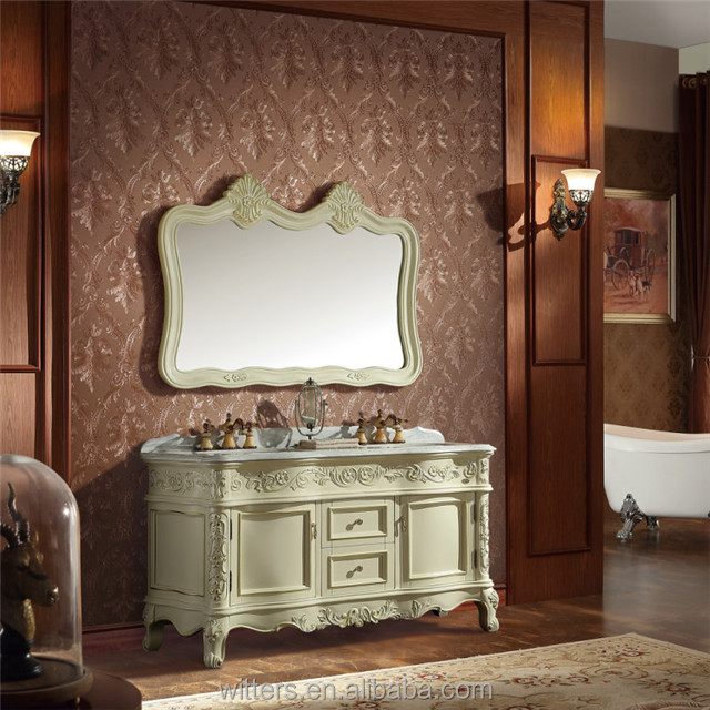 Spanish Style Commercial Double Sink Bathroom Vanity Wts1619