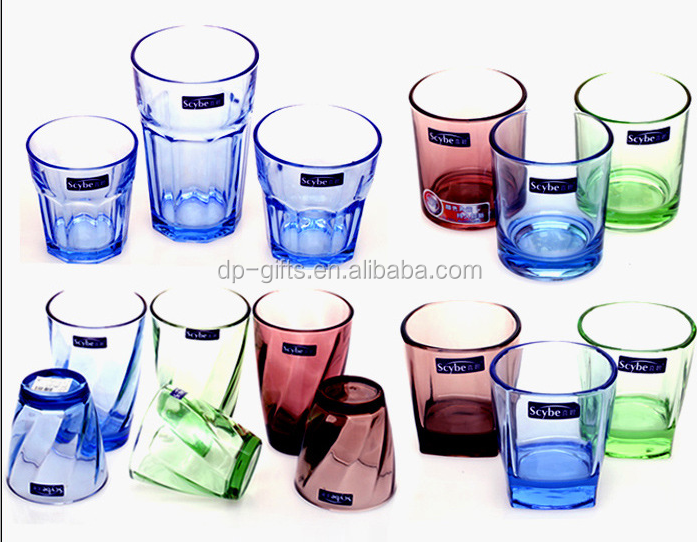 180,270ml fashion colorful drinking glass wine water cups
