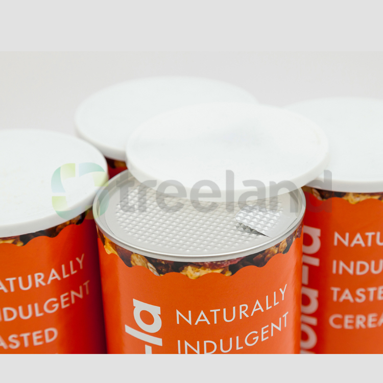 Fancy Cylinder Muesli Paper Box Packaging
