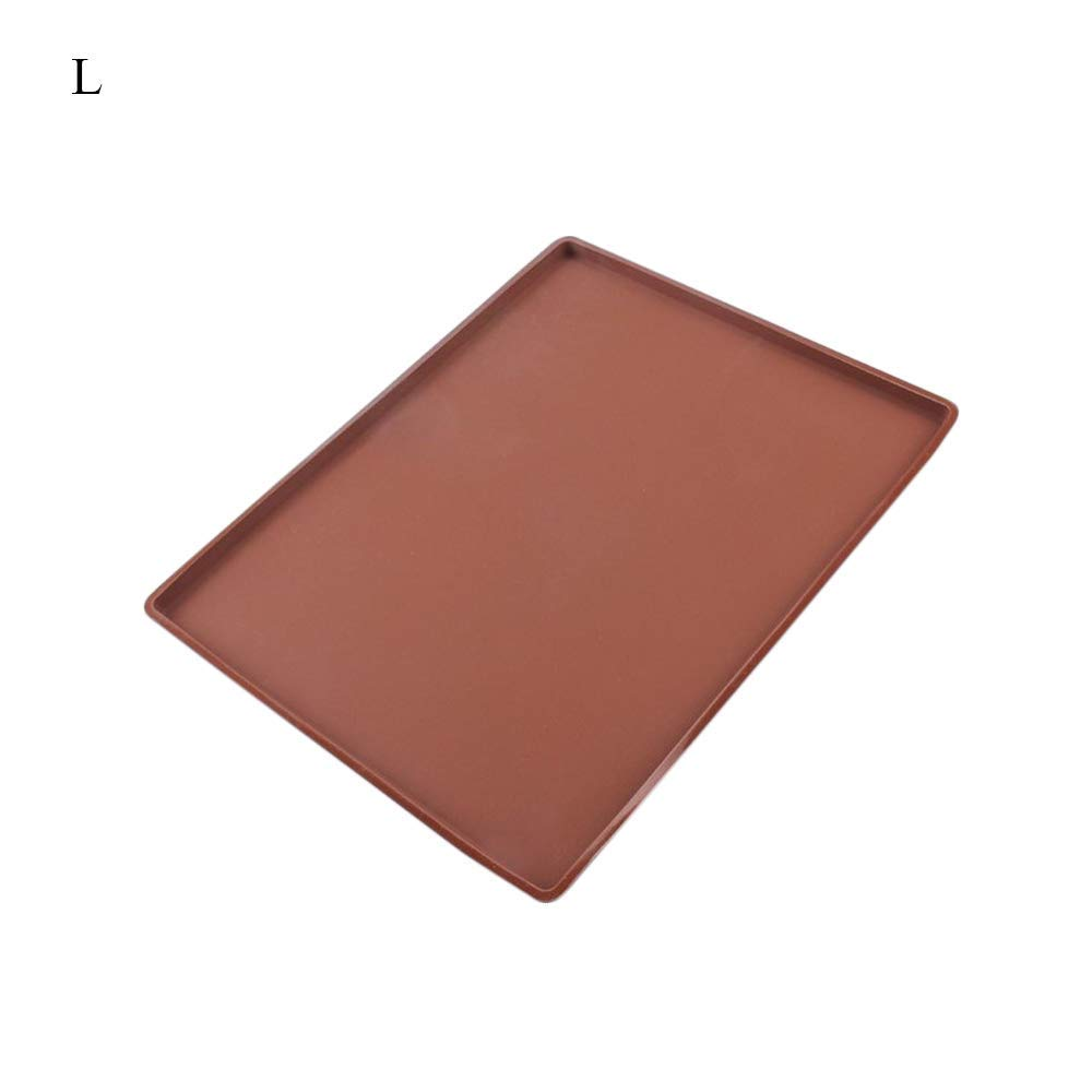 GerTong 1PCS Non-Stick Silicone Flexible Baking Mat Swiss Roll Baking Sheet Pad Large Size for Cake Cookie Pizza Macaron Kitchen Supply size L