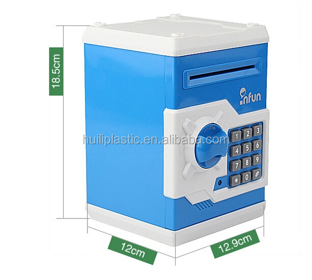 Custom plastic Mini atm coin bank money saving boxes toy for kids