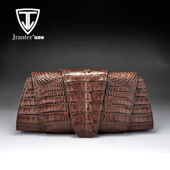 2017 Handmade Luxury Genuine Crocodile Leather Clutch Bag