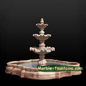 natural stone big 3 tier park large outdoor stone water fountain