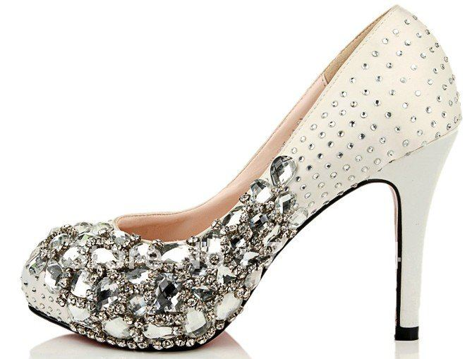 BS295 free shipping custom make white wedding shoes with blue rhinestones