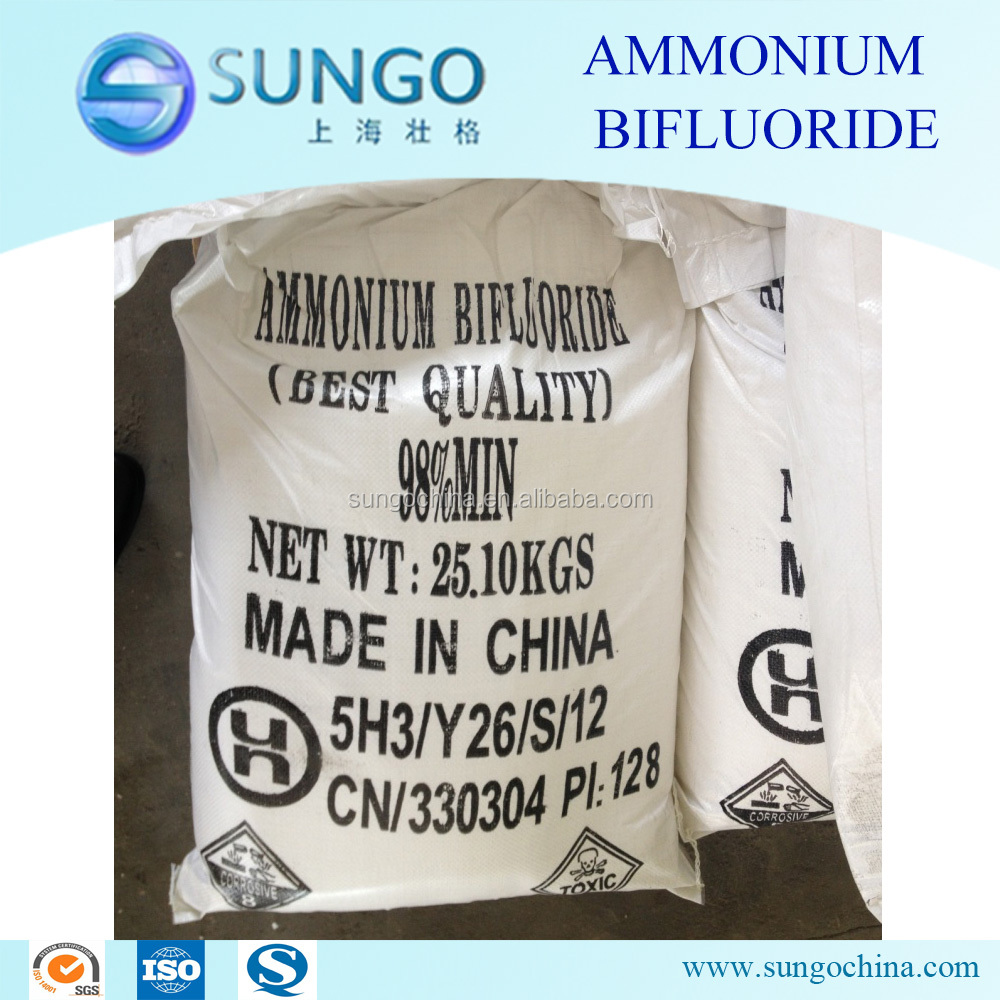 chemical AMMONIUM BIFLUORIDE 98% Flaky for glass frosting