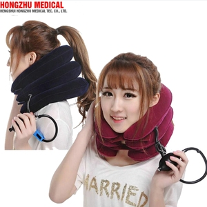 Therapeutic apparatus air inflatable neck cervical message roll pillow collar protector cervical traction neck fixation