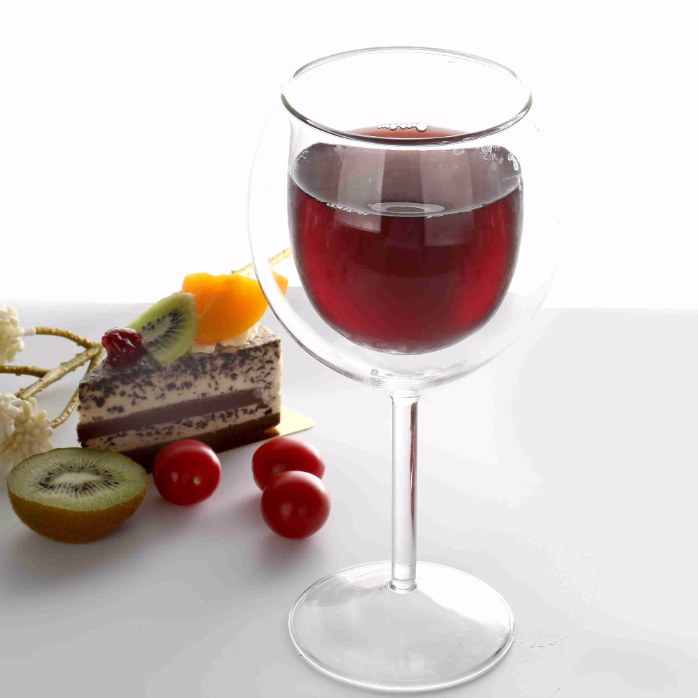 New Design Thermal Double Wall Stemmed Red Wine/Whisky Glasses