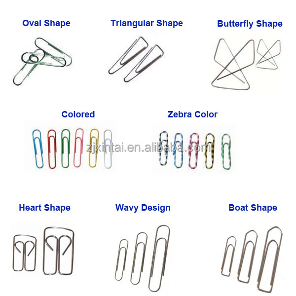 types of paper clips